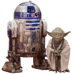 Figura de colección Kotobukiya Star Wars Yoda Dagobah y R2-D2 ARTFX+ 1/10 (SW95)