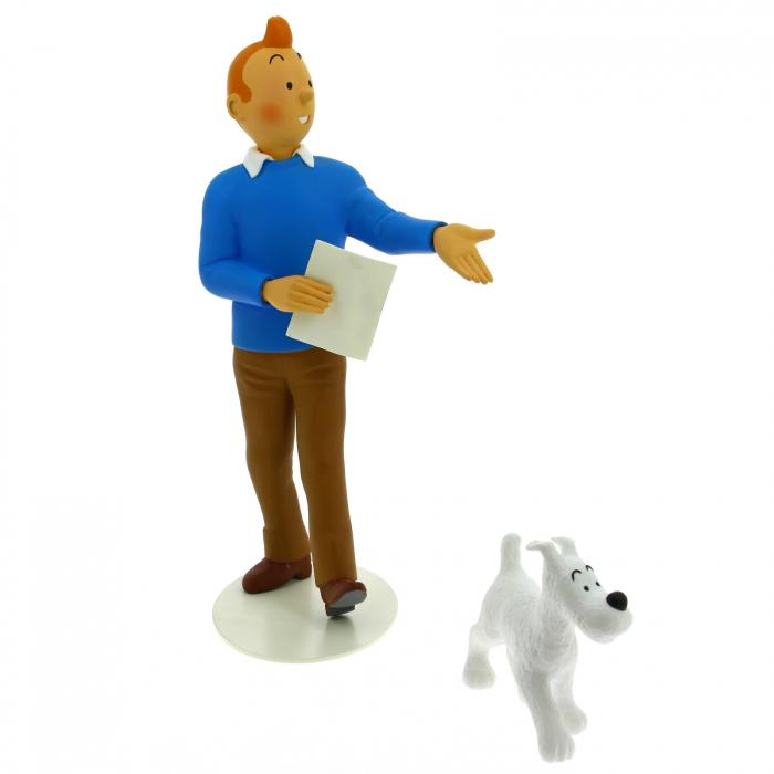Figurine de collection en résine Tintin et MIlou Moulinsart 25cm 46007 (2016)