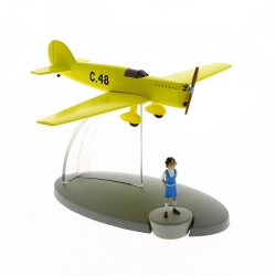 Figurine de collection Tintin L'avion jaune C-48 Jo et Zette Nº46 29566 (2016)