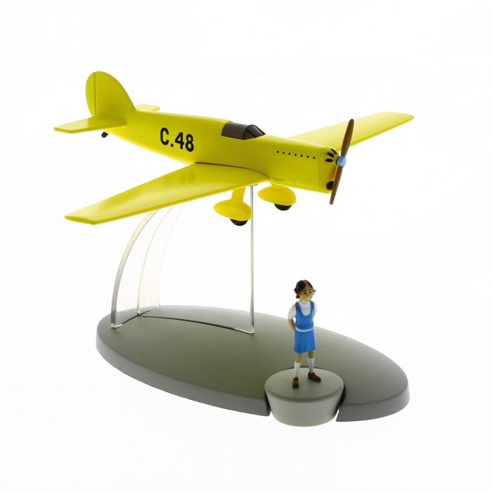 Figurine de collection Tintin L'avion jaune C-48 Jo et Zette Nº46 29566 (2016)
