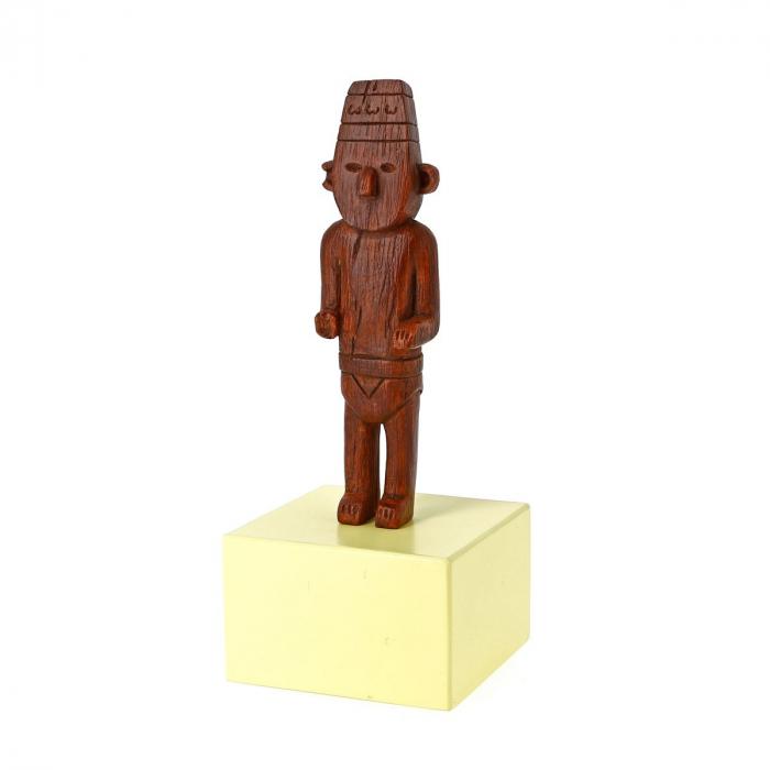 Figurine de collection Tintin Le Fétiche Arumbaya Moulinsart 14cm 46001 (2016)
