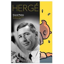 Affiche de l'Exposition d'Hergé au Grand Palais Tintin 24062 (40x60cm)