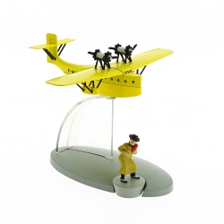 Tintin Figure collection Yellow Postal mail Seaplane Nº45 29565 (2016)