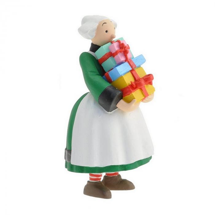Figurine de collection Plastoy Bécassine tenant une pile de cadeaux 61019 (2014)