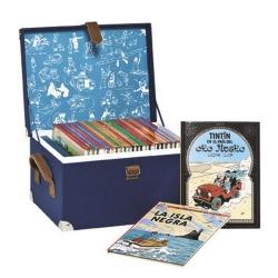 Coffret valise de collection des albums des aventures de Tintin (Espagnol)