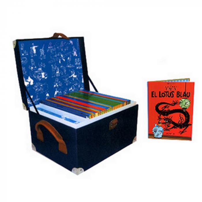 Cofre colección de los álbumes de las aventuras de Tintín (Catalán)