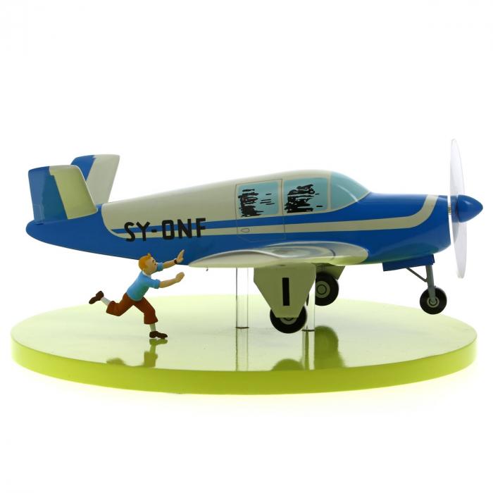 Maquette de collection Tintin L'avion Bonanza Beechcraft A35 40028 (2012)