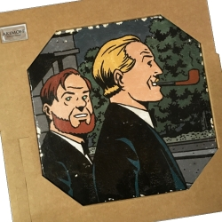 Collectible marble sign Blake and Mortimer The will of William S. (20x20cm)