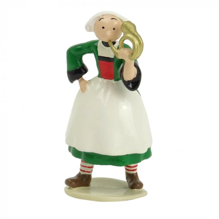 Figurine de collection Pixi Bécassine avec sa poupée 6444 (2012)