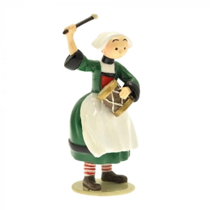 Figurine de collection Pixi Bécassine avec son tambourin 6449 (2012)