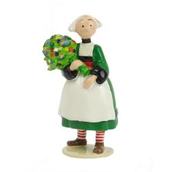Figurine de collection Pixi Bécassine avec son bouquet de fleurs 6446 (2012)