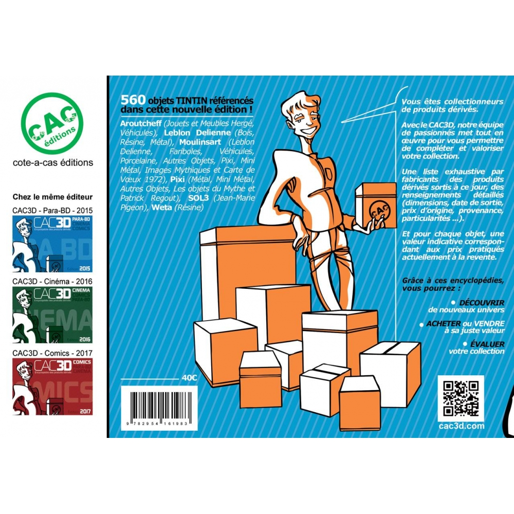 Comics Figures Catalog Cac3d Tintin Pixi Fariboles Moulinsart