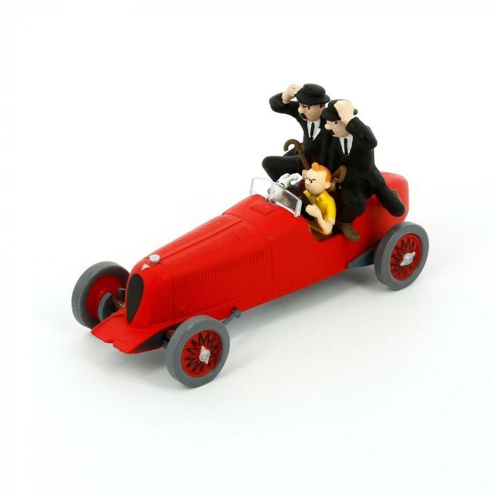 Figura de colección Tintín y Milú en el coche Amilcar Moulinsart 29508 (2013)