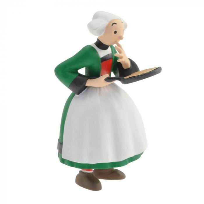 Figurine de collection Plastoy Bécassine avec sa poêle à crêpe 61021 (2014)