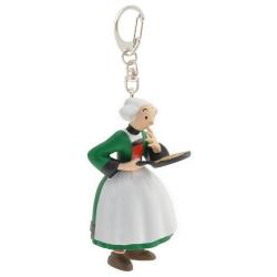 Keychain figure Plastoy Bécassine with her pancake stove 61075 (2014)