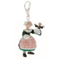 Porte-clés figurine Plastoy Bécassine avec sa marionnette poupée 61070 (2014)