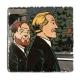 Placa de mármol colección Blake y Mortimer El Testamento de William S. (20x20xm)