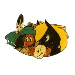 Pin's de Yakari con su caballo Pequeño Trueno dorado (Casterman 92)