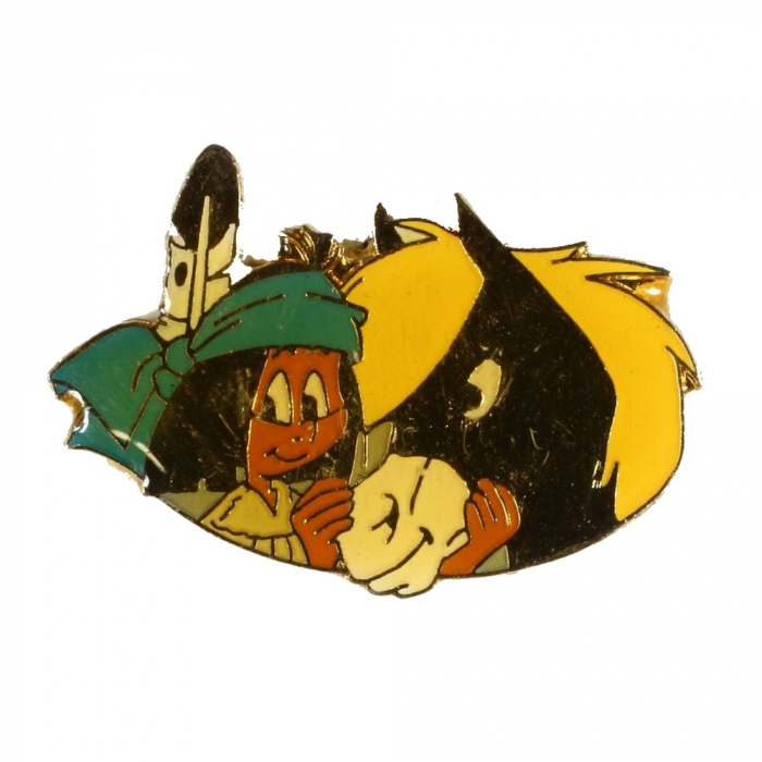 Pin's Yakari with his horse Little Thunder Golden Version (Casterman 92)