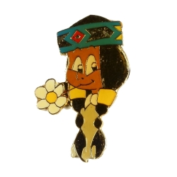 Pin's Yakari Rainbow (Arc-en-Ciel) Bust Golden Version (Casterman 92)