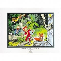 Poster Offset Tome & Janry de Spirou et Fantasio dans la jungle (80x60cm)
