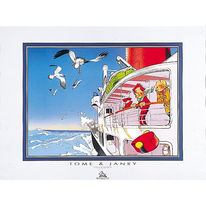 Poster Offset Tome & Janry Spirou and Fantasio in the boat (80x60cm)