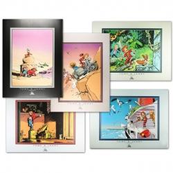 Set de 5 posters Offset Tome & Janry de Spirou et Fantasio (80x60cm)