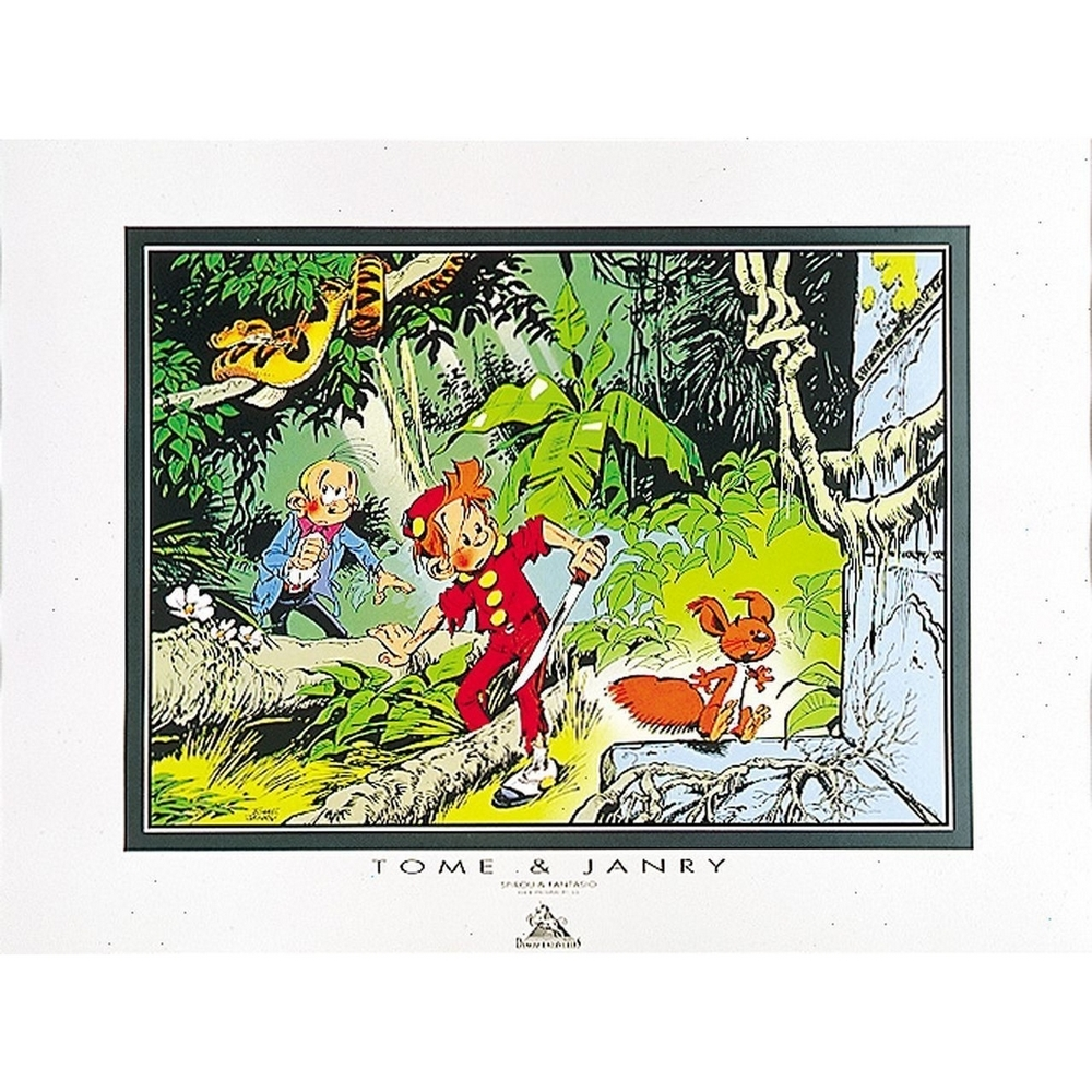 set of 5 posters offset tome janry spirou and fantasio. Black Bedroom Furniture Sets. Home Design Ideas