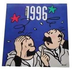 Calendario 1996 Las aventuras de Tintín Hernández y Fernández 30x30cm (09806)