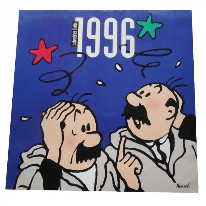 Calendario 1996.Calendario 1996 Las Aventuras De Tintin Hernandez Y Fernandez 30x30cm 09806 Bd Addik