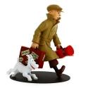 Figurine de collection en résine Tintin et Milou ils arrivent !! 21cm (46948)