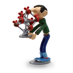 Collectible Figurine Pixi Gaston Lagaffe and the Easter Atomium 6573 (2017)