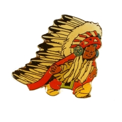 Pin's Yakari Indian Chief Golden Version (Casterman 92)