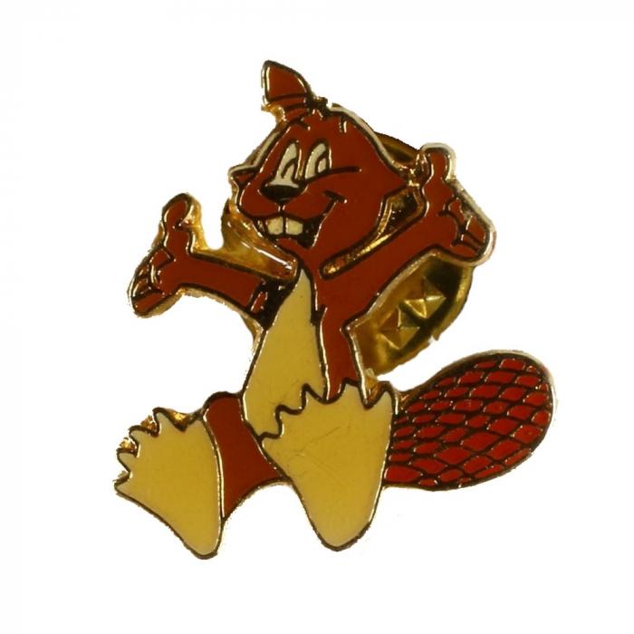 Pin's de Yakari el castor artista Double-dent dorado (Casterman 92)