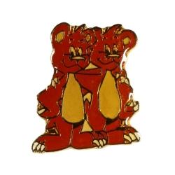 Pin's de Yakari los dos ositos Double-dent dorado (Casterman 92)