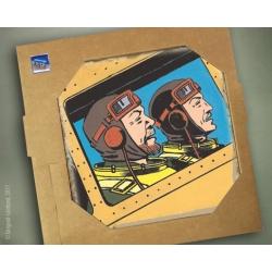 Placa de mármol colección Blake y Mortimer El secreto del Espadón 1 (20x20cm)