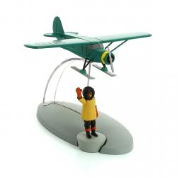 Figurine de collection Tintin L'avion sur skis Nº49 29569 (2017)
