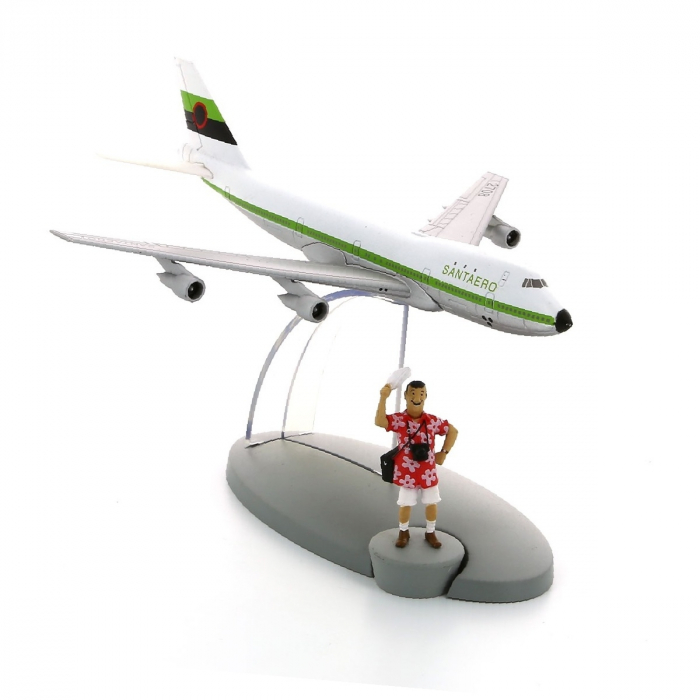 Figurine de collection Tintin L'avion de la compagnie Santaero Nº50 29570 (2017)