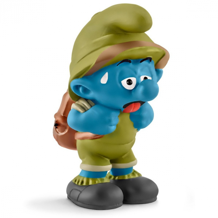Figurine Schleich® Les Schtroumpfs - Schtroumpf de la jungle fatigué (20779)