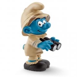 Figurine Schleich® Les Schtroumpfs - Schtroumpf de la jungle observateur (20781)