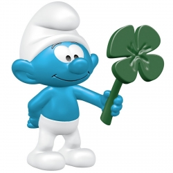The Smurfs Schleich® Figure - The Smurf with clover leaf (20797)