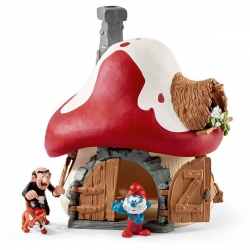 Smurf House with Papa Smurf and Gargamel figures Schleich® (20803)