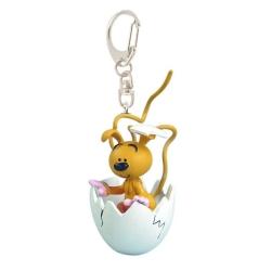 Llavero figura Plastoy El bebé Marsupilami saliendo del huevo 65048 (2015)