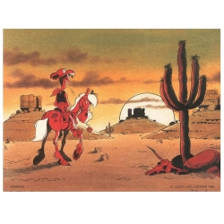 Poster affiche offset Equinoxe Lucky Luke I'm a poor lonesome cowboy (80x60cm)