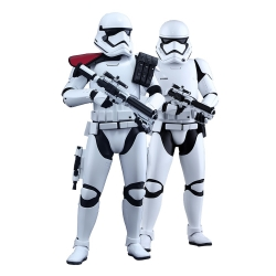 Set de figuras Hot Toys Star Wars First Order Stormtrooper Officer 1/6 (902604)
