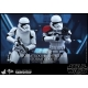 Set de figurines Hot Toys Star Wars First Order Stormtrooper Officer 1/6 902604