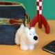 Keyring chain Soft Cuddly Toy Tintin Snowy Moulinsart 9cm 35138 (2017)