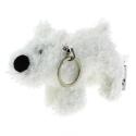 Keyring chain Soft Cuddly Toy Tintin Snowy Moulinsart 8cm 35138 (2017)