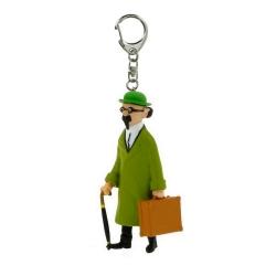 Porte-clés figurine Tintin Tournesol et valise 5,5cm Moulinsart 42449 (2010)