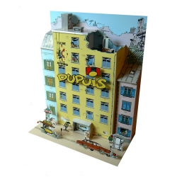 Collectible diorama Toubédé Editions Gaston Lagaffe: The editorial staff (2014)